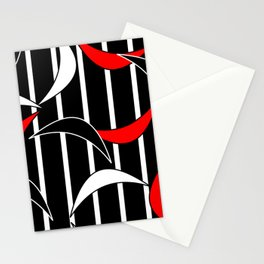 Black, White and Red Stationery Cards