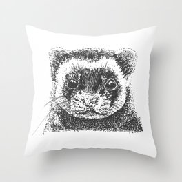 All Is Ferret In Love and War Throw Pillow