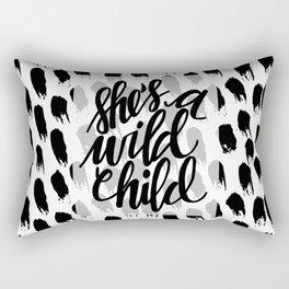 she's a wild child Rectangular Pillow