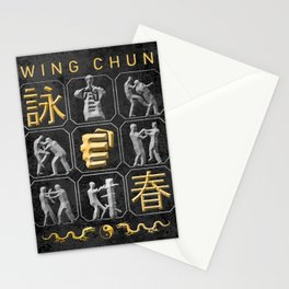 Wing Chun, Kung Fu Stationery Cards