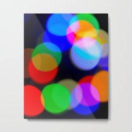 Christmas_Lights Bokeh - I Metal Print