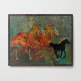 Horses Three Metal Print