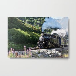 Steam Railway Furka-Bergstrecke Metal Print