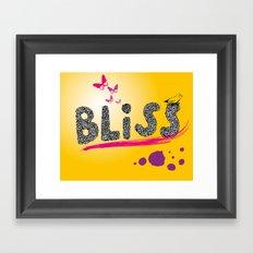 bliss. Framed Art Print