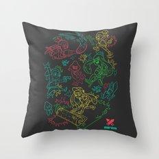 Squid Wars Throw Pillow
