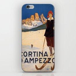Vintage poster - Cortina d'Amprezzo iPhone Skin