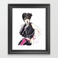 Fashion illustration in magenta Framed Art Print