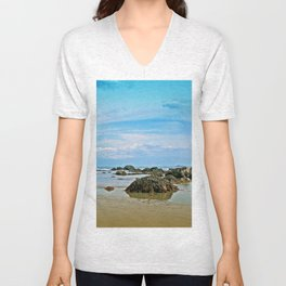 Abandoned Beach Unisex V-Neck