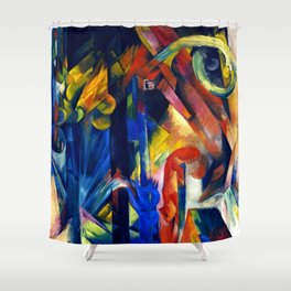 """Franz Marc """"Forest with squirrel"""" Shower Curtain"""
