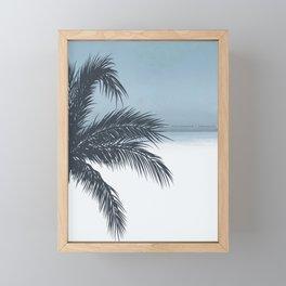 Palm and Ocean Framed Mini Art Print