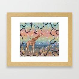 Great Little Giraffe Framed Art Print