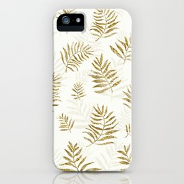 Gold Autumn Leaves iPhone Case
