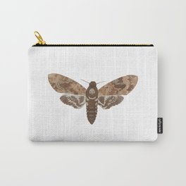 Death's Head Moth Hawkmoth Brown Insect Digital Watercolor Carry-All Pouch