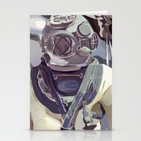 diver Stationery Cards featuring Diver by Five Ate Five Studios