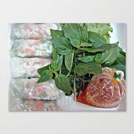 Thailand has long been a local noodle restaurant tubes Canvas Print