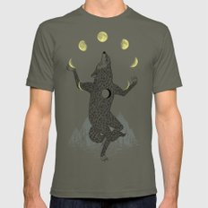 Moon Juggler Mens Fitted Tee SMALL Lieutenant