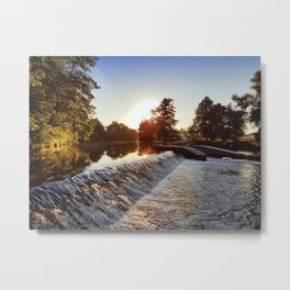 River weir Metal Print