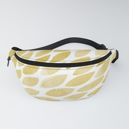 Watercolor brush strokes burst - yellow Fanny Pack