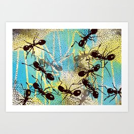 The ants came marching Art Print