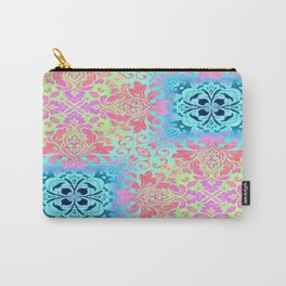 vintage bohemian colorful pastel colors abstract pattern Carry-All Pouch