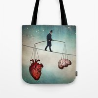 balance Tote Bags featuring The Balance by Christian Schloe