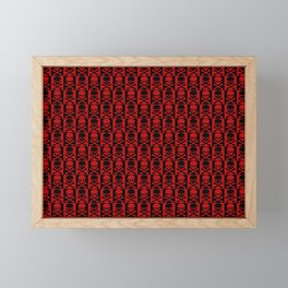 Red Skulls Framed Mini Art Print