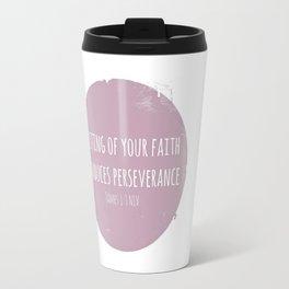 James 1:3 NIV Travel Mug