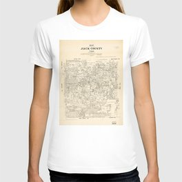 Map of Jack County, Texas (1879) T-shirt