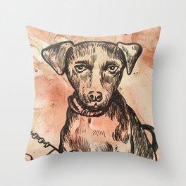 Hershy Pup Throw Pillow