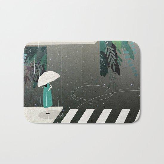 let it rain Bath Mat