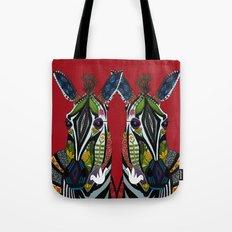 zebra love red Tote Bag