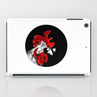rooster iPad Cases featuring rooster by Isacco Saccoman