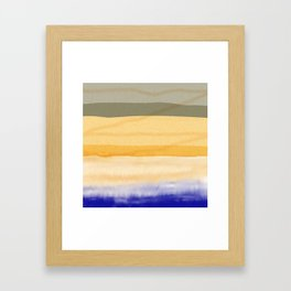 Brush Strokes Art, Watercolor, Color Theory Home Accessories Framed Art Print