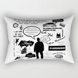 Dean Winchester Quotes Rectangular Pillow