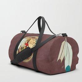 The Warrior Native American Folk Art Duffle Bag
