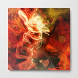 Fire Lights Metal Print