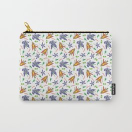 Columbine on White Carry-All Pouch
