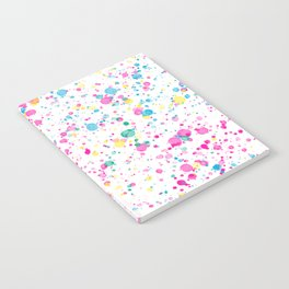 Spring Happy - Bright Color Paint Splatter Notebook