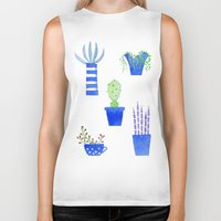 succulents Biker Tanks featuring Succulents by Nic Squirrell