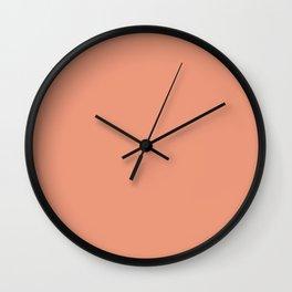 Light Terracotta Salmon Solid Wall Clock