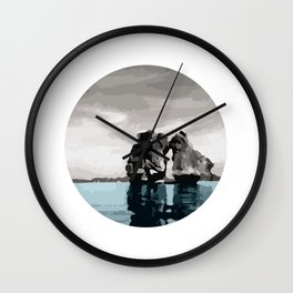 Fighting Cock Islet on Ha Long Bay Vietnam Wall Clock