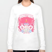 princess bubblegum Long Sleeve T-shirts featuring Princess Bubblegum: SCIENCE! by MortinfamiART