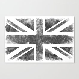Grey UK Flag Canvas Print