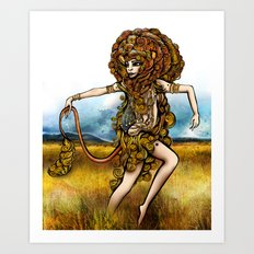 Astrology Illustration Series-Leo Art Print