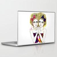 gemini Laptop & iPad Skins featuring Gemini by D.U.R.A