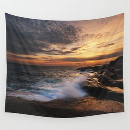 Twilight Surf Wall Tapestry