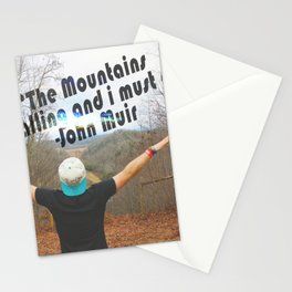 Mountains John Muir Stationery Cards