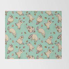 Raccoons Love Throw Blanket