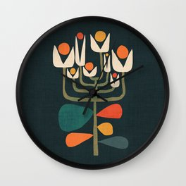 Retro botany Wall Clock