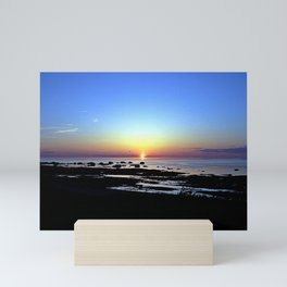 Wonderful Sunset Seascape Mini Art Print